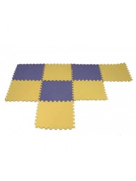 Мягкое напольное модульное покрытие покрытие 485*485*10  тип соединение ласточкин хвост. Комплект  2 шт (0,5 кв. м).
