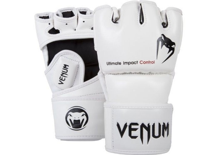 Перчатки для MMA Venum Impact MMA Gloves Skintex Leather White