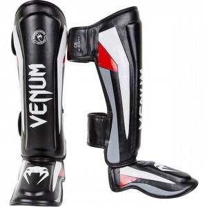 Защита голеностопа Venum Elite Standup Shinguards Black