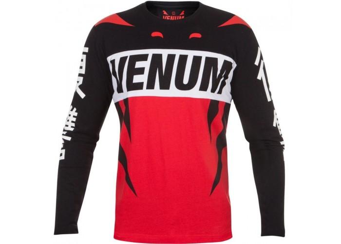 Лонгслив Venum Revenge T-Shirt Red Black