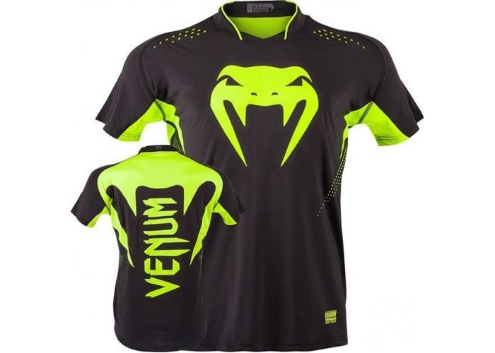 Футболка Venum Hurricane X Fit T-shirt - Black/Neo Yellow