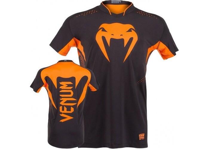 Футболка Venum Hurricane X Fit T-shirt - Black/Neo Orange