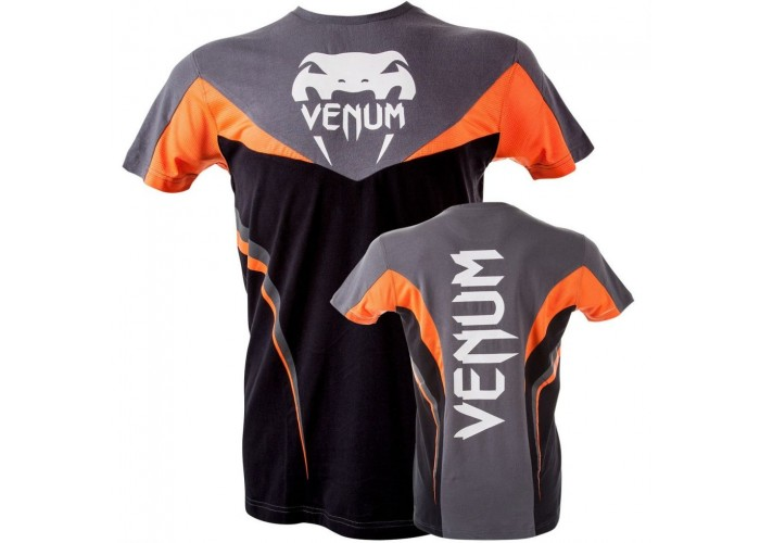 "Футболка Venum ""Shockwave 3"" T-Shirt -Black Orange"