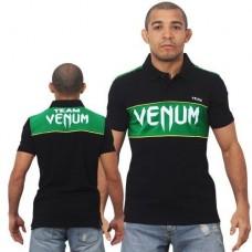 Футболка Venum Team Polo - Black/Green