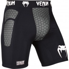 Компрессионные шорты Venum Absolute Compression Shorts Black Grey