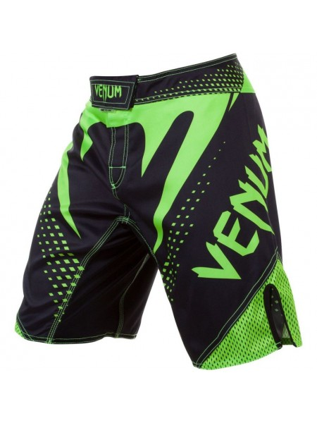 Шорты MMA Venum Hurricane Fight Shorts Black Neo Green