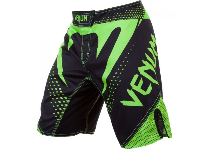 Шорты MMA Venum Hurricane Fight Shorts Black Neo Green