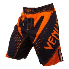 Шорты MMA Venum Hurricane Fight Shorts Black Neo Orange