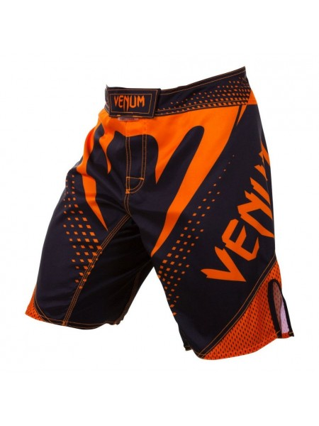 Шорты MMA Venum Hurricane Fight Shorts Black Neo Orange
