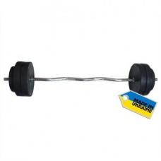 Штанга наборная  Newt Rock 30 кг w-образный гриф
