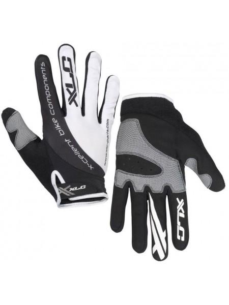 Перчатки велосипедные Mercury XLC, черно-белые, XL