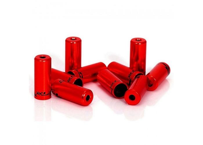 Наконечники тормозные на рубашки XLC BR-X10, ø5,0мм, 50шт, красные