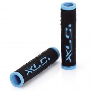 Грипсы 'Dual Colour' XLC GR-G07, черно-голубые