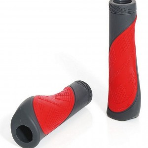 """Грипсы XLC GR-S17 """"Comfort bo"""", красно-серые, 135мм"""