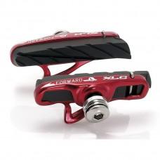 Тормозные колодки V-Brake XLC BS-R06, 4шт, шоссе, картридж, черно-красные