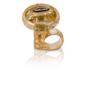 Звонок велосипедный XLC DD-M012, прозрачно- золотой, Ø 36 мм