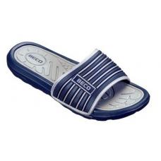 Тапочки мужские BECO 9082 711 тёмно-синий/серый